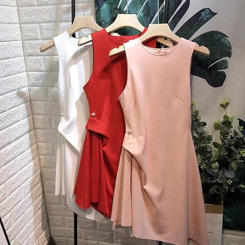 Premium Asymmetrical Dress with Pearl