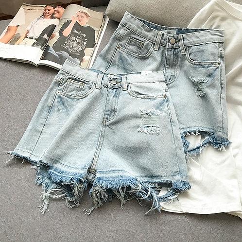 Summer High Waist Denim Shorts
