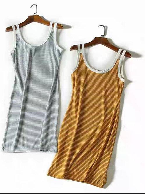 Stripes Basic Bodycon Dress