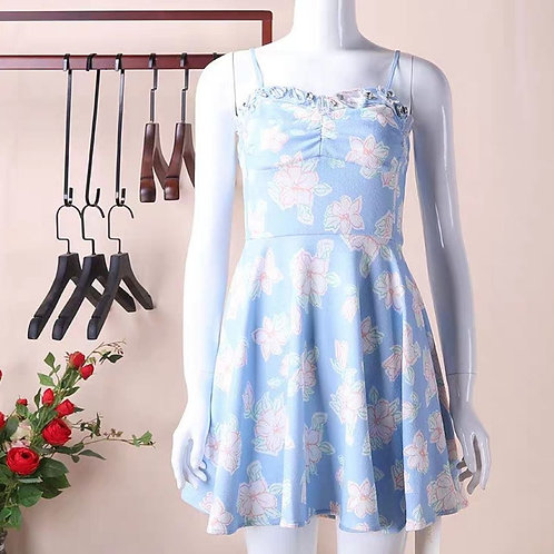 Floral Mini Dress with Crystal