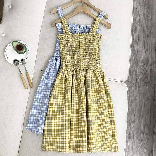 Checkered A-lined Dress