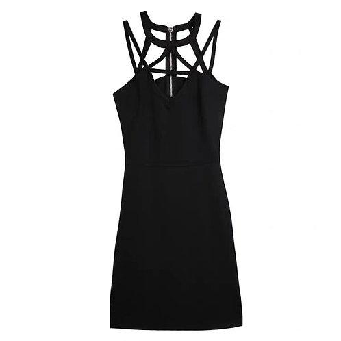 Cut Out Back Zipper Dress
