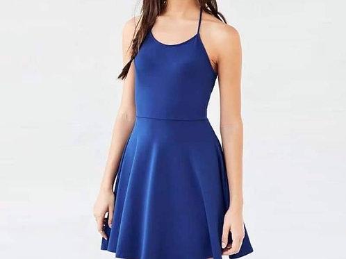 Cross Back Basic Dress