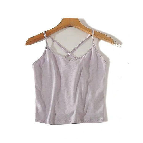 Tie Back Crop Top in Lavender