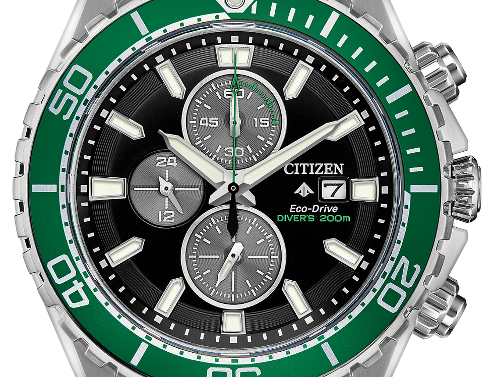 Citizen Promaster Chrono Diver Eco-Drive Black Green CA0715-03E Watch