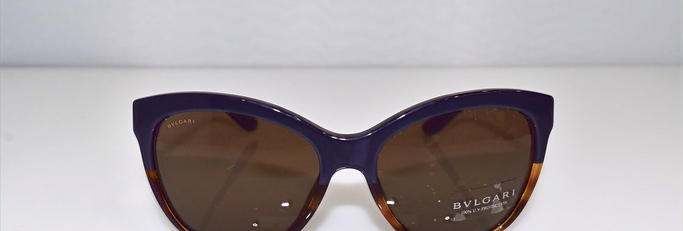 BVLGARI Purple Havana Gold Crystals 8161-B 5363/4L Sunglasses