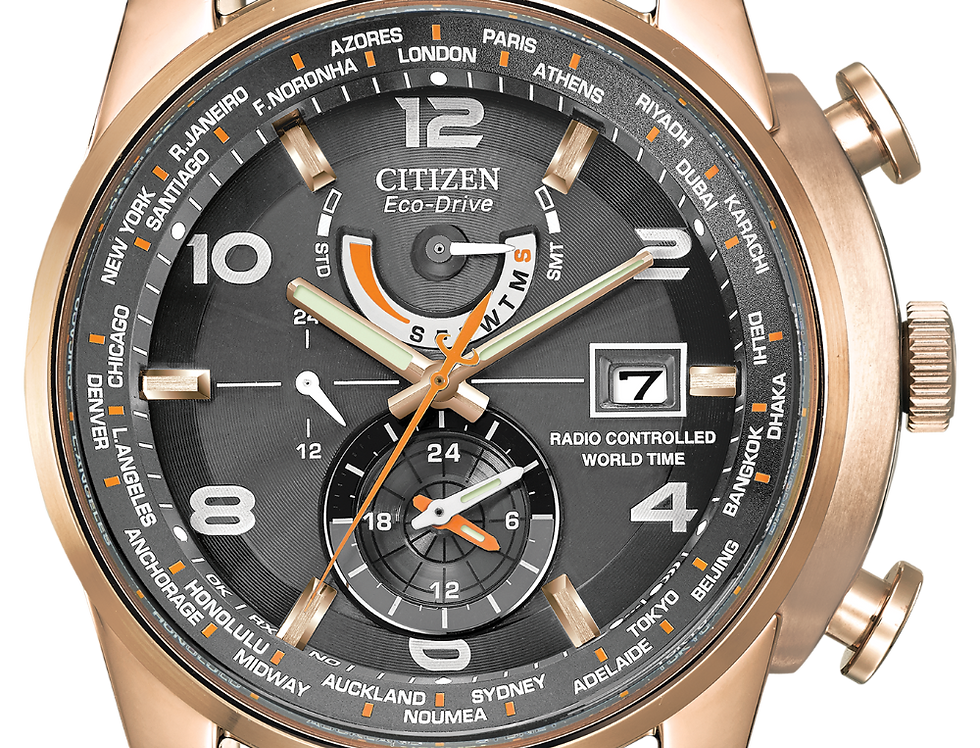 Citizen World Time A-T Eco-Drive AT9013-03H Watch
