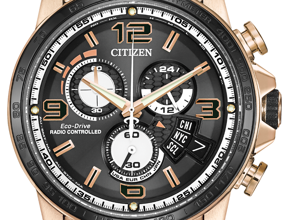 Citizen Chrono Time A-T Eco-Drive Rose Gold BY0108-50E Watch