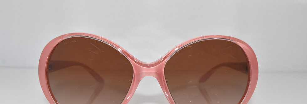 BVLGARI Pink Transparent Rose Gold with Crystals 8128-B 1005/13 Sunglasses
