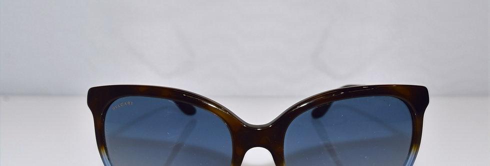 BVLGARI Havana Blue Gold Crystals 8161-B 5363/4L Sunglasses