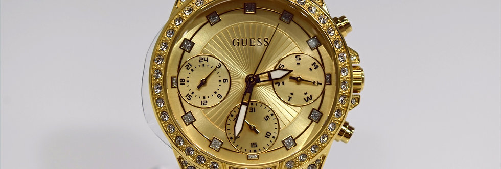 Guess Women's Yellow Gold IP SS Crystals W1293L2 Watch