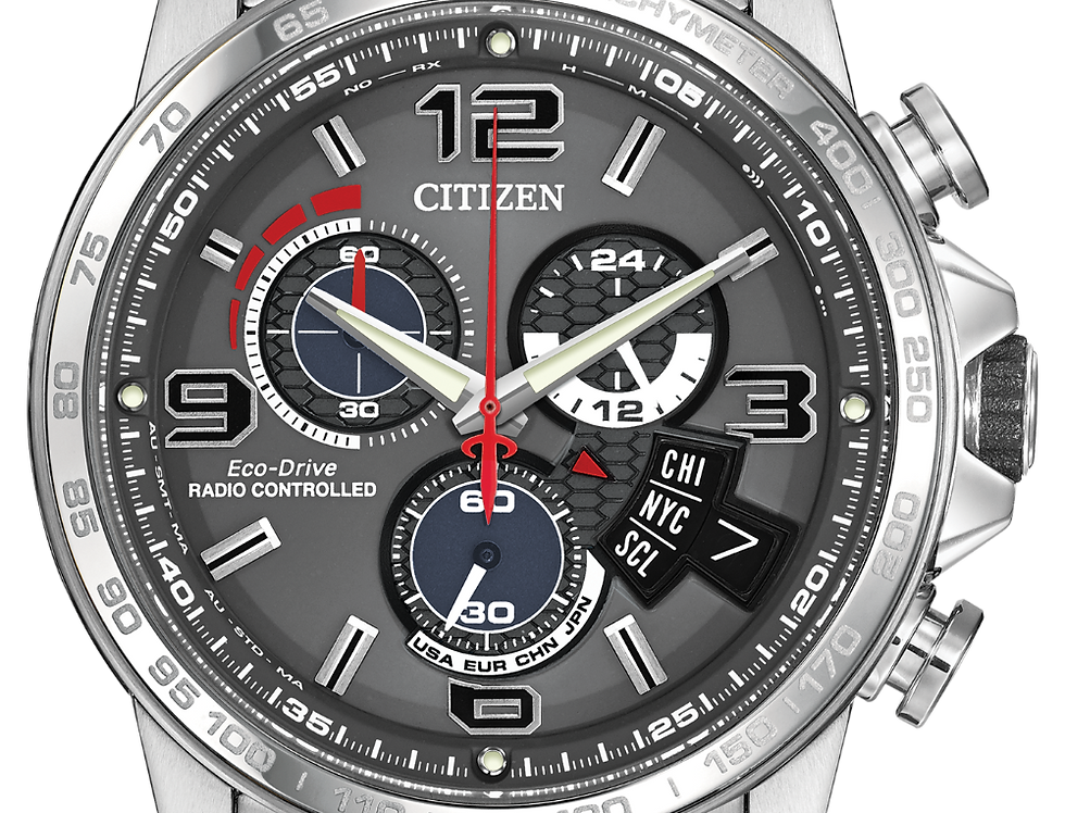 Citizen Chrono Time A-T Eco-Drive Silver BY0100-51H Watch
