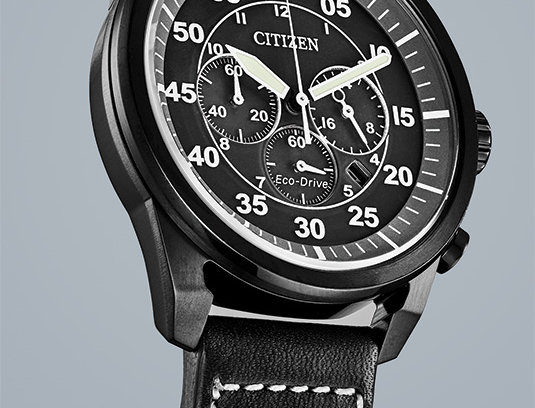 Citizen Avion Eco-Drive Black Silver BX1010-02E Watch