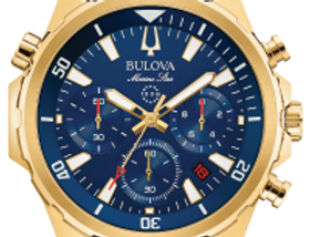Bulova Marine Star SS Blue Dial 97B168 Watch