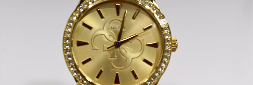 Guess Women's Yellow Gold IP SS Crystals W1280L2 Watch