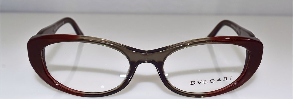 BVLGARI Gray Transparent Plum 4057-B 5210 Eyeglasses