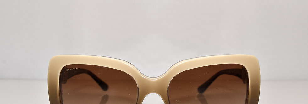 BVLGARI Beige Brown Crystals 8146-B 5338/13 Sunglasses
