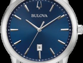 Bulova Sutton SS Blue Dial 96B338 Watch