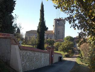 Clocher de l'église de Belcastel
