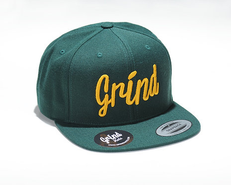 Spruce Green Hat w/ Gold Grind Embroidered Logo
