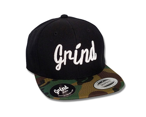 Black/Camo Brim w/ White Grind Embroidered Logo
