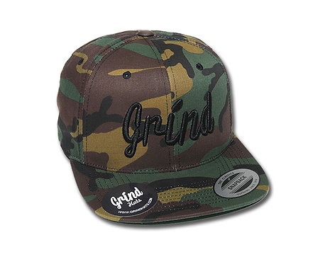 Camo w/ Black Grind Embroidered Logo