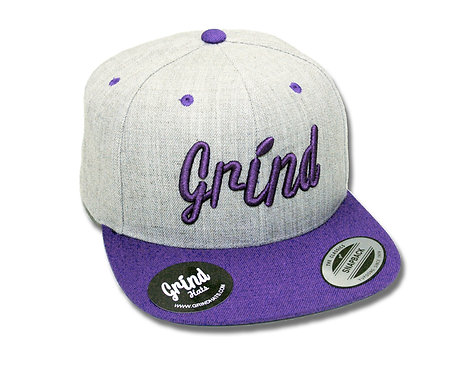 Heather Gray 2-Tone /Purple Grind Embroidered Logo