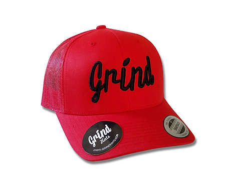 Classic Red Trucker Hat w/Black Logo