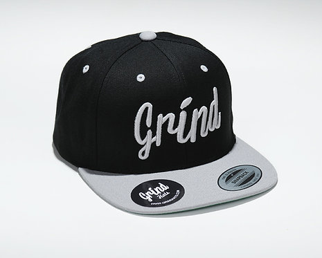 Black/Silver 2-tone, Silver Grind Embroidered Logo