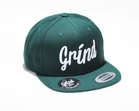Spruce Green Hat w/ White Grind Embroidered Logo