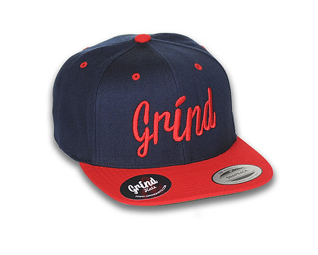 Navy/Red 2-Tone w/ Red Grind Embroidered Logo