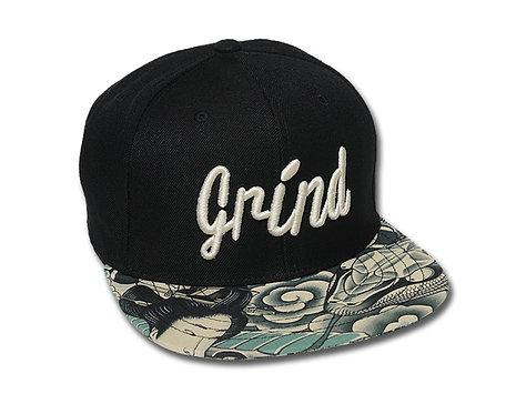Black /Python Skulls Geisha Brim w/Gold Grind Logo