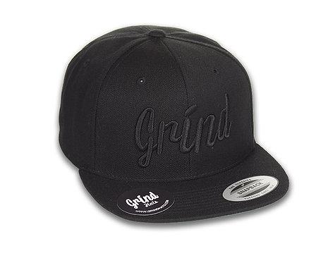 Black Hat w/ Black Grind Embroidered Logo