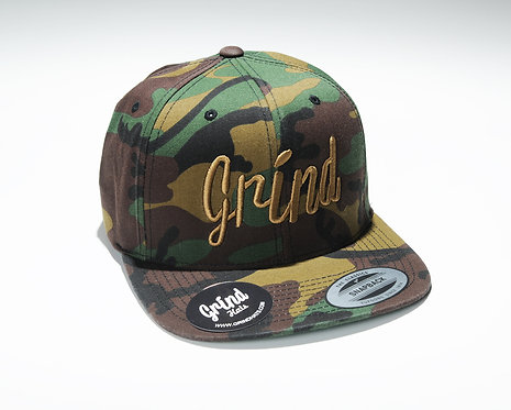Camo w/ Brown Grind Embroidered Logo