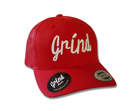 Classic Red Trucker Hat w/White Logo