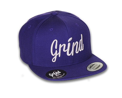 Purple Hat w/ Light Gray Grind Embroidered Logo