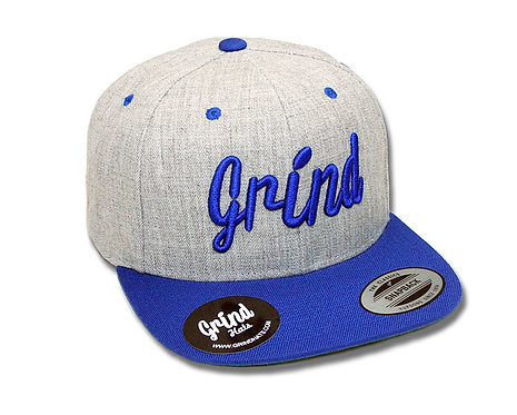 Heather Gray 2-Tone w/Blue Grind Embroidered Logo