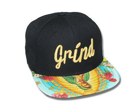 Our Lady of Guadalupe Hat with Gold Grind Logo