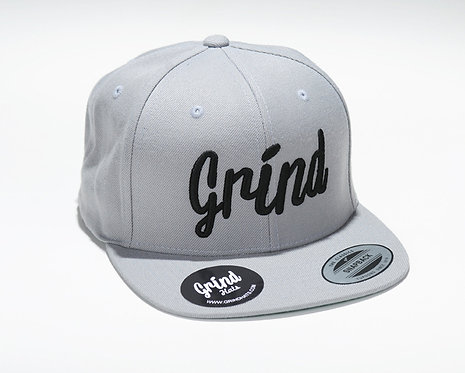 Silver Hat w/ Black Grind Embroidered Logo