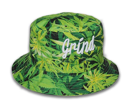 Leaf Bucket Hat w/ White Grind Embroidered Logo