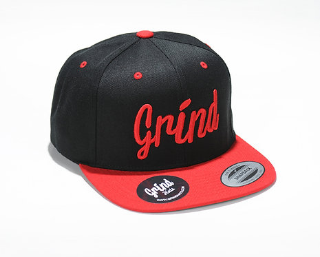 Black/Red 2-Tone w/ Red Grind Embroidered Logo