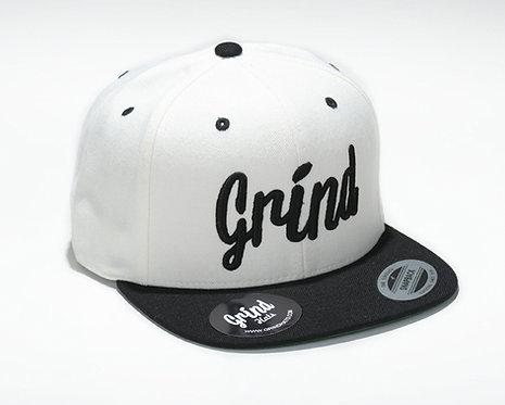 White/Black 2-Tone w/ Black Grind Embroidered Logo