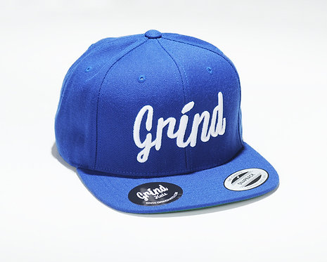 Royal Blue Hat w/ White Grind Embroidered Logo