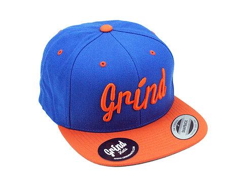 Royal Blue/Orange 2-tone Hat w/ Embrd. Grind Logo