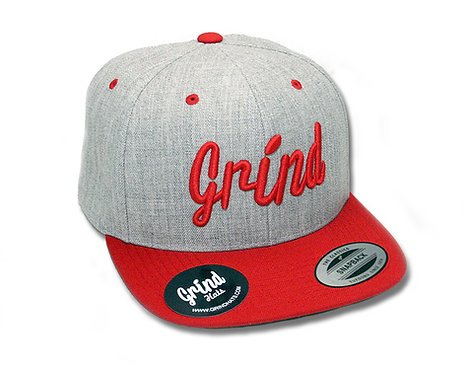 Heather Gray 2-Tone w/Red Grind Embroidered Logo