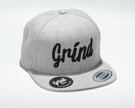 Heather Gray w/ Black Grind Embroidered Logo