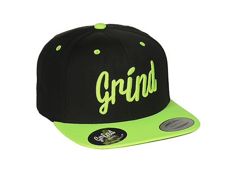 Black/Green 2-Tone w/ Green Grind Embroidered Logo