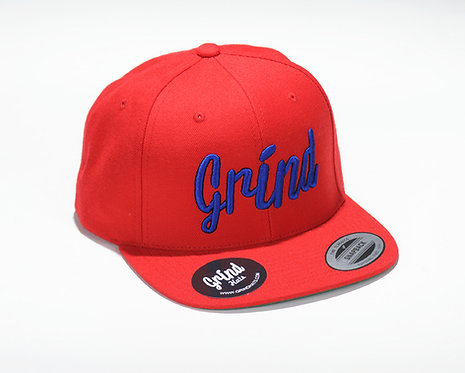 Red Hat w/ Blue Grind Embroidered Logo