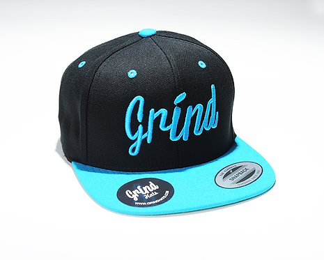 Teal/Black 2-Tone w/ Teal Grind Embroidered Logo
