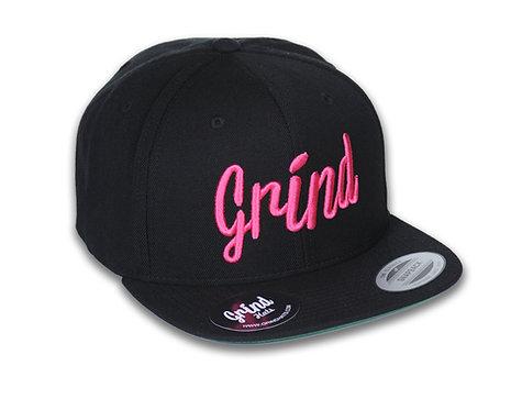 Black Hat w/ Neon Pink Grind Embroidered Logo